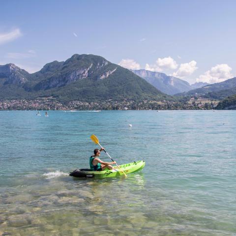 Kayak : un moment rafraîchissant